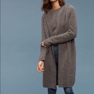 Aritzia Hooded open-front wool ammonius sweater